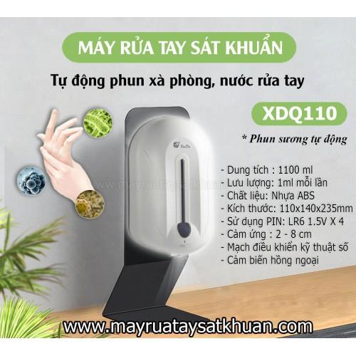 Máy rửa tay sát khuẩn xịt cồn, xà phòng cảm ứng tự động XDQ110 1100 ml, đại lý, phân phối,mua bán, lắp đặt giá rẻ