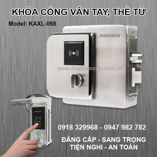 Khóa cửa cổng Vân tay, thẻ từ cho cửa cổng sắt ngoài trời KAXL-068, đại lý, phân phối,mua bán, lắp đặt giá rẻ