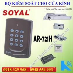 Bộ kiểm soát cửa ra vào Soyal 721 lắp cửa Kính