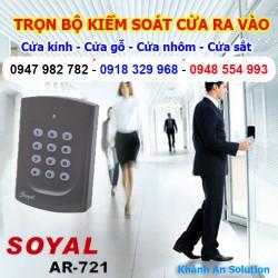 Bộ kiểm soát cửa ra vào Soyal 721 lắp cửa Gỗ